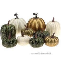 Kepfire 10 Pcs Künstlich Gefälscht Kürbisse Schaum Simulation Der Herbst Ernte Farmhouse Küche Halloween Dekorativ Zufällige Farbe