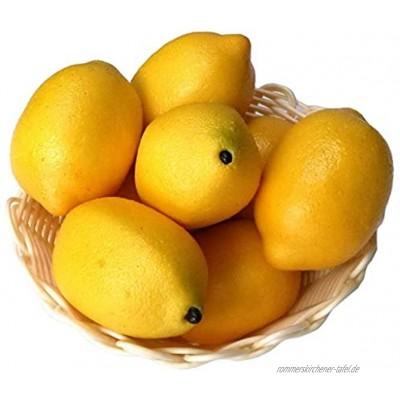 Xiangze 6 x künstliche Limetten Zitronen Deko-Schaumstoff künstliche Frucht-Imitation Heimdekoration Gelb