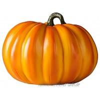 FILWO 1 STück Halloween Orange Kürbis Gefälschte Harz Kürbis Künstlicher Halloween Kürbis Passend für Süßes oder Saures Halloween-Dekoridee für Partybedarf