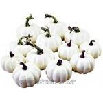 Si885monaL Halloween Kunstschaum Mini Kürbisse Halloween Thanksgiving Herbst Ernte Kürbis Dekorationen Requisiten 12 Stück Set