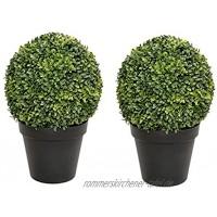 Künstliche Buchsbaum-Kugel Topfpflanze 50 cm 2 Stück