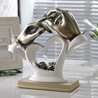 """Moderne Minimalistische Abstrakte Skulptur Handwerk Dekoration Wohnzimmer Hand die Finger hält Weinschrank Schlafzimmer Zimmer Dekorationen Büro Dekoration L W H: 11"""" 4.33"""" 9.44"""",Weiß"""