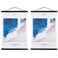 Benjia Poster-Rahmenaufhänger magnetisch groß Holz Posteraufhänger für 45,7 x 61 cm Walnuss 2 Packungen