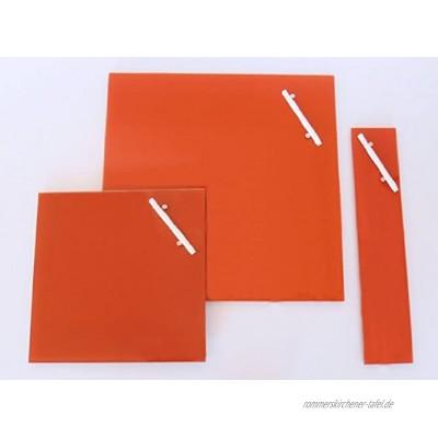 Chrystallo Corkline Glas-Magnettafel orange 35x35 cm Memoboard