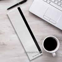 Duokon Computer-Monitor Memo-Board Acryl-Nachrichten Memo-Boards klebrige Erinnerung für Computer PC Laptop Fernseher Monitor Bildschirme links