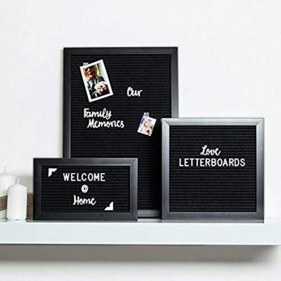 Letterboard mit Buchstaben & Smileys 3x Größenauswahl 25x15 25x25 30x45 Buchstabenbrett Rillentafel Holztafel Pinnwand ideal für Sprüche Menüs Einkaufsliste Letter-Board Nachrichten Buchstabentafel