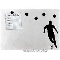Magnetpinnwand Wandtafel Fußball Ball Sport Soccer Kid Edelstahl magnetisch