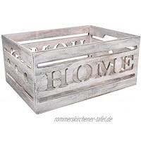 Tin Tours Kasten aus Holz für Haus Aufbewahrungskasten Dekorative Box 33x25x15 cm