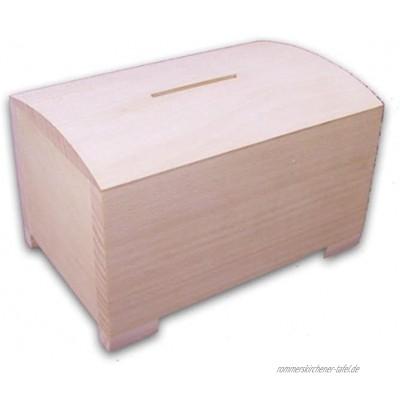MidaCreativ stabile Spardose Sparbüchse aus Holz Kiefer unbehandelt
