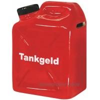 Spardose Benzinkanister Tankgeld 9,0 cm x 12,0 cm x 6,0 cm B x H x T