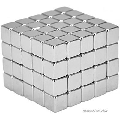 eLander 100 Stück Magnete Würfel für Glasmagnetplatten Magnettafeln Whiteboards Kühlschränke 5mm