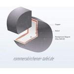 Omnicube Runde N35 Neodym Magnete Extra Stark 50 Stück | 5x1mm Starke Magnete | Geeignet für Magnettafeln Kühlschränke Whiteboards und vieles mehr