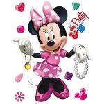 1art1 Minni Maus Minnie Mouse Wand-Tattoo | Deko Wandaufkleber für Wohnzimmer Kinderzimmer Küche Bad Flur | Wandsticker für Tür Wand Möbel Schrank 30 x 30 cm