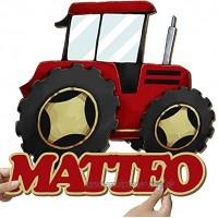 Elbeffekt Traktor Wandlampe aus Holz personalisierbares Geschenk Bilder Kinderzimmer Jungen Bild Traktor Kinderzimmer Traktor Geschenk individuell aus Echtholz