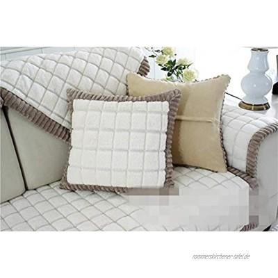 MEHE@ Romantik stilvoll Persönlichkeit kreativ Dick einfache Moderne Sofa Kissen Winter Ledersofa Kissen Sofa-Sets Sofa Handtücher Sofaabdeckung Sofa-Überwürfe 45 * 45cmKissenbezug