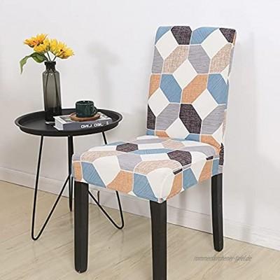 Moderner Restaurantstuhlbezug elastischer Stretchstuhlbezug Hotelbankettküche Dekoration Stuhlbezug A10 4pcs