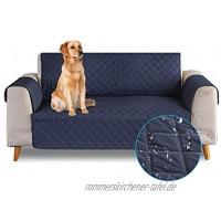 PETCUTE Sofabezug Sofaüberwurf Anti-Rutsch Sofa schonbezug wasserdichtes Sofabezüge 3 Sitzer Quilted Sofabezüge für Hunde Haustiere Dunkelblau