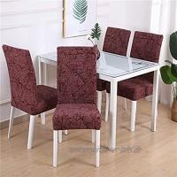Stretchdruck Esszimmerstuhlbezug Moderner Abnehmbarer Küchensitzbezug Spandex Stuhlschoner für Bankett A10 4pcs