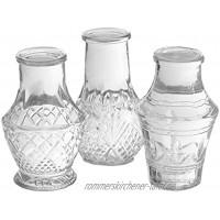 Annastore 12 x Mini-Vase H 8 cm KIeine Vasen für die Tischdeko Deko Vasen Glasfläschchen Glasvasen Blumenvasen