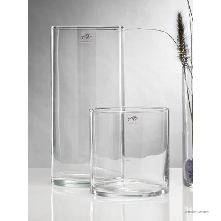 Glasvase CYLI Glas Vase Tischvase Blumenvase Zylinder 40 cm