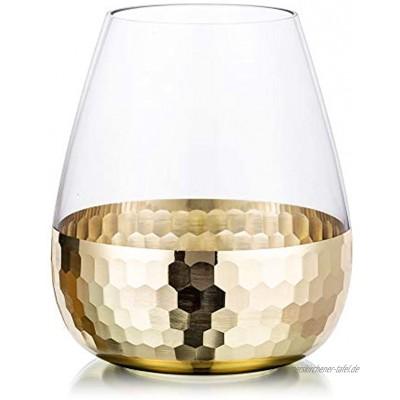 Kleine Vasen Für Tischdeko Bodenvase Für Pampasgras Blumenvase Modern Vase Gold Glas Mit Goldener Wabe Vintage Glasvase Fuer Blumen Hochzeit Deko Wohnzimmer Tablett Bad Couchtisch