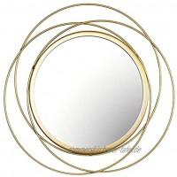 arthomer Wandspiegel Geometrischen Wandspiegel Für Wohnzimmer Büro Runden Dekorativen Spiegel Einweihungsgeschenke,Gold