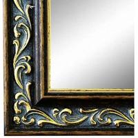 Online Galerie Bingold Spiegel Wandspiegel Braun Gold 50 x 120 cm Barock Antik Landhaus Vintage Alle Größen Massiv Holz AM Verona