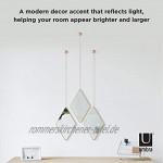 Umbra Dima Wandspiegel und Wanddekoration Metall Kupfer 29 x 18 x 1.5 cm