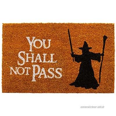 getDigital You Shall not Pass Fußmatte-Türmatte mit berühmter Fantasy-Szene Kokosfaser Großartiges Geschenke Für Film-Fans