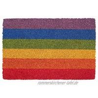 Nicola Spring Non-Slip Fußmatte Natur Coir Indoor Outdoor Fußmatte 60 x 40cm Rainbow 1