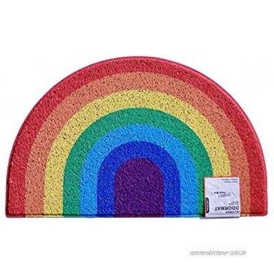 Nicoman Regenbogenfarben Fußmatte Einweihungsgeschenk Geschenk Schmutzfänger Barriere Fußmatten 70x44cm
