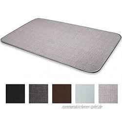 Seekua Fußmatte Badematte Küchenteppich rutschfeste Niedrigprofil Teppich mit Naturkautschukrücken maschinenwaschbar Einfache Wartung Teppich für Tür Bad und Küche