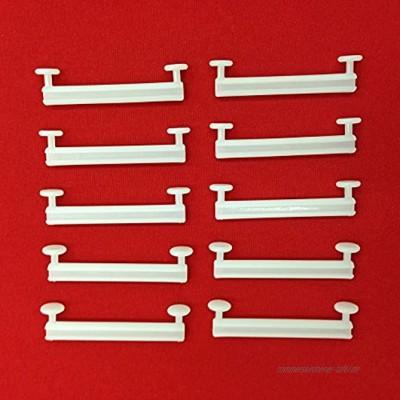 Easy-Shadow 100 Stück Schlaufengleiter für 70 mm 70mm Schlaufen ohne Schlitz Gleiter 7 cm 7m Innenlauf für Schlaufenschals Schlaufenvorhang passend für Gardinenschienen Gardinenstange Vorhangschienen Gardinenbretter Gardinen Laufschienen Deckenleiste weiß
