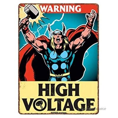 Echte Marvel Comics Thor A5 Stahlschild Zinn Wand Türschild