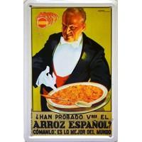 Magnet Blechschild Poster mit Retro Vintage Design von Catalunya Spanien. Blechschild. 1.099,8x 701cm PAELLA ARROZ ESPAÑOL
