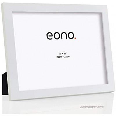 Brand – Eono Dokumentenrahmen Urkundenrahmen aus Massivholz Hochauflösendes Glas fasst Dokumente in der Größe 22x28 cm Standardrahmen mit Ständer Weiß