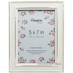 Hampton Frames Paloma Dstrssd Holzrahmen 12,7 x 17,8 cm Weiß Holz 5x7 13x18cm