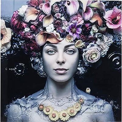 Kare Design Bild Glas Flower Art Lady 80x80x4cm