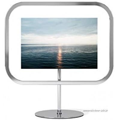 Umbra Infinity Sqround 10 x 15 cm Bilderrahmen zum Aufstellen oder Aufhängen Metall Chrom normal