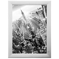 FRAMO 35 Puzzlerahmen 70 x 100 cm Farbe: Kiefer Weiß handgefertigter Puzzle Bilderrahmen mit bruchfester Anti-Reflex Kunstglasscheibe Rahmen Breite: 35mm Außenmaß: 75,8x105,8cm