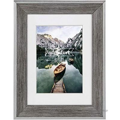 Hama Kunststoffrahmen Sierra Rahmen 20 cm x 30 cm Rand 25 mm x 19 mm für Fotos der Größe 13 cm x 18 cm Spiegelglas Polystyrol PS grau