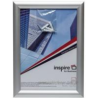Hampton Frames SNAPA4S Bilderrahmen für Poster Zertifikate Fotorahmen A4 21 x 30 cm silberfarben