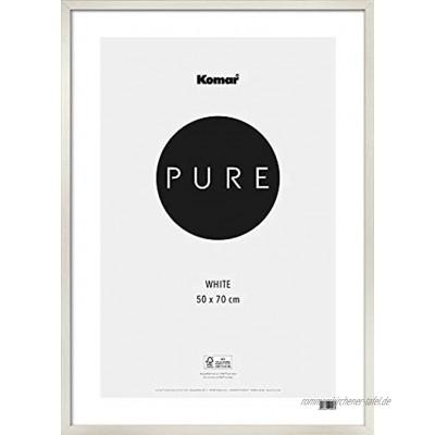Komar Bilderrahmen Holz weiß 50x70 cm mit hochtransparentem Acrylglas weiß 50 x 70 cm