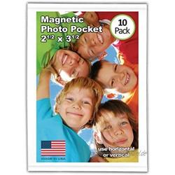 MAG-Tech magtech Magnetische Foto Pocket Rahmen weiß hält 10,2x 15,2cm Fotos 10Stück weiß 2.5 x 3.5
