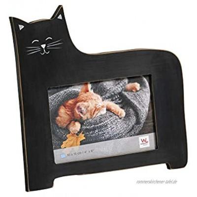 Portraitrahmen Katze 10x15 cm schwarz
