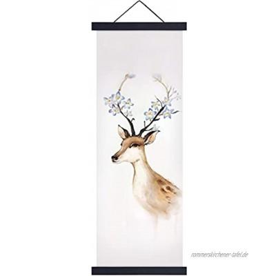 Posterleiste Magnetisch Posterschiene Poster Fotorahmen A4 Holz Bilderleiste 21cm Magnetischer Bild Plakatrahmen Schwarze Bilderrahmen mit eingesenkten Magneten für Poster Bilder Fotos