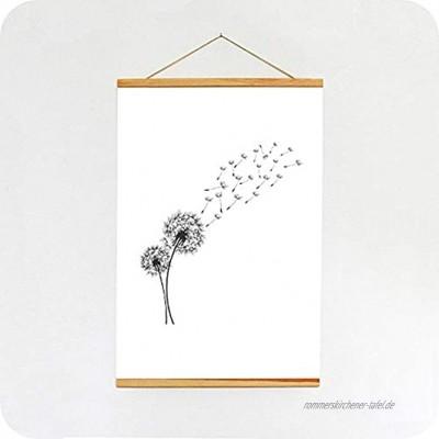 SPRINTIS Magnetische Posterleiste aus Holz A1 Posterschiene mit eingefassten Magneten Posterklemmschiene zum Aufhängen Holzposterleiste 60 cm Kiefernholz
