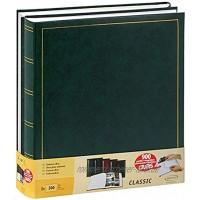 Brepols 2er Set Traditionelle Fotoalben Jumbo 100 Seiten für 500 Fotos 10x15cm grün