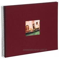 goldbuch 25972 Spiralalbum mit Bildausschnitt Bella Vista Foto Album 35 x 30 cm Fotoalbum mit 40 schwarze Seiten Erinnerungsalbum aus Leinen Fotobuch für Bilder & Fotos zum Einkleben Bordeaux