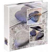 Hama Einsteckalbum Cantania Fotoalbum für 200 Fotos im Format 10x15 cm Album zum Einstecken Fotobuch Photoalbum grau